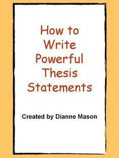 Thesis statement literature